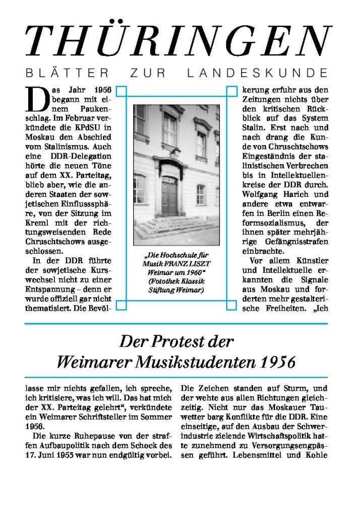 [77] - Der Protest der Weimarer Musikstudenten 1956