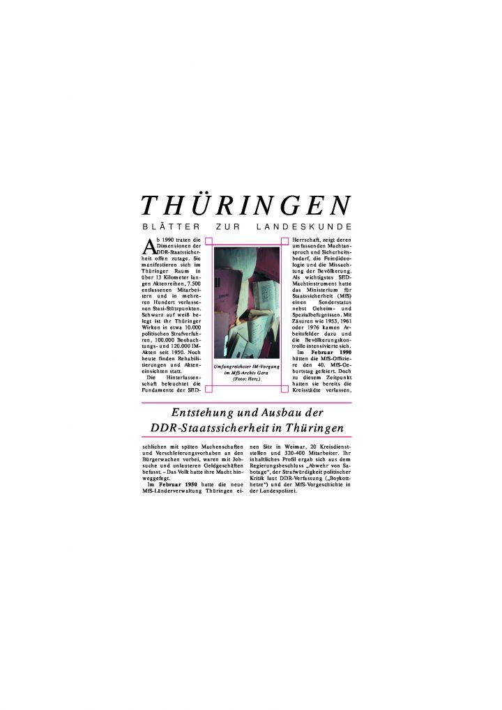 [38] - Entstehung und Ausbau der DDR-Staatssicherheit in Thüringen
