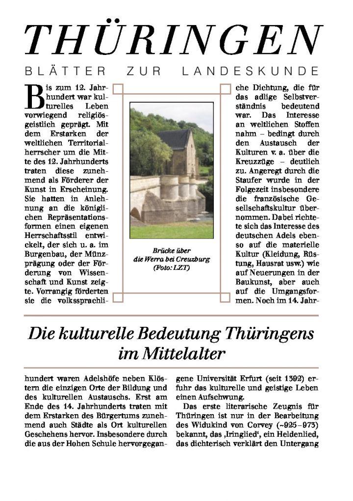 [73] - Die kulturelle Bedeutung Thüringens im Mittelalter
