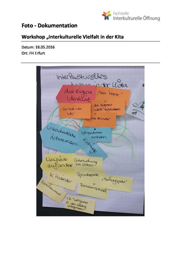 """Workshop """"Interkulturelle Vielfalt in der Kita"""